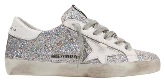 Preload https://img-static.tradesy.com/item/26375194/golden-goose-deluxe-brand-super-star-distressed-glitter-leather-sneakers-size-eu-36-approx-us-6-regu-0-2-540-540.jpg