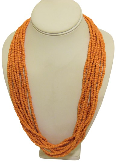 Other Coral Beaded Necklace and Multi-color Beaded Earring Set Image 2