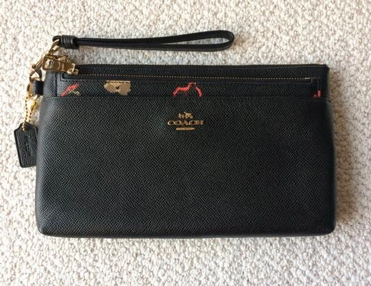 Coach Wristlet in Black and Floral Image 1
