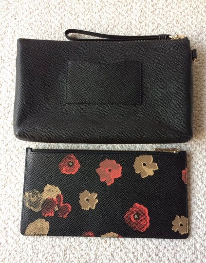 Coach Wristlet in Black and Floral Image 3