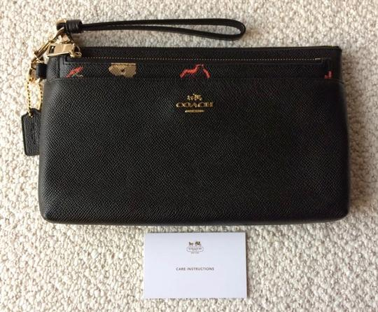 Coach Wristlet in Black and Floral Image 7