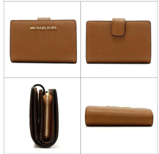 Michael Kors Michael Kors Jet Set Travel Bifold Zip Coin Wallet 35f7gtvF2l Luggage Image 6