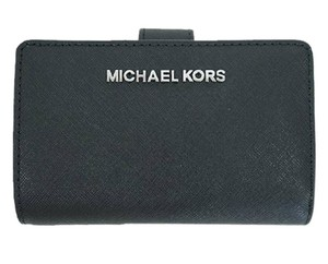 Michael Kors Black Silver Jet Set Travel Bifold Zip Coin Wallet 35f7gtvF2l silver
