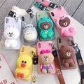case for 7 plus 3D cute cartoon animal wallet lanyard phone case for iphone X XR XS 5S SE 11 pro MAX 8 6 plus stitch bear cover case for 7 plus 3D cute cartoon animal wallet lanyard phone case for iphone X XR XS 5S SE 11 pro MAX 8 6 plus stitch bear cover Image 2