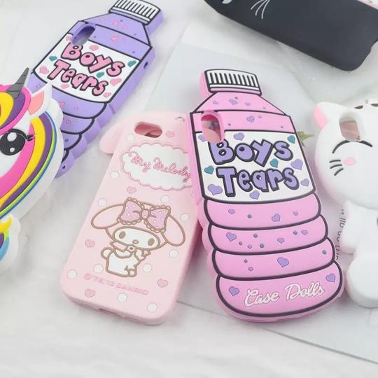 for iPhone 7 8 Plus X XS 11 Pro Max XR 4 4S 5 5S 6 6S Case 3D Cute Cartoon Soft Silicone Cover Lovely Cat Bottle Stitch Unicorn for iPhone 7 8 Plus X XS 11 Pro Max XR 4 4S 5 5S 6 6S Case 3D Cute Cartoon Soft Silicone Cover Lovely Cat Bottle Stitch Unicorn Image 2