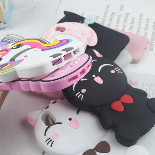 for iPhone 7 8 Plus X XS 11 Pro Max XR 4 4S 5 5S 6 6S Case 3D Cute Cartoon Soft Silicone Cover Lovely Cat Bottle Stitch Unicorn for iPhone 7 8 Plus X XS 11 Pro Max XR 4 4S 5 5S 6 6S Case 3D Cute Cartoon Soft Silicone Cover Lovely Cat Bottle Stitch Unicorn Image 3