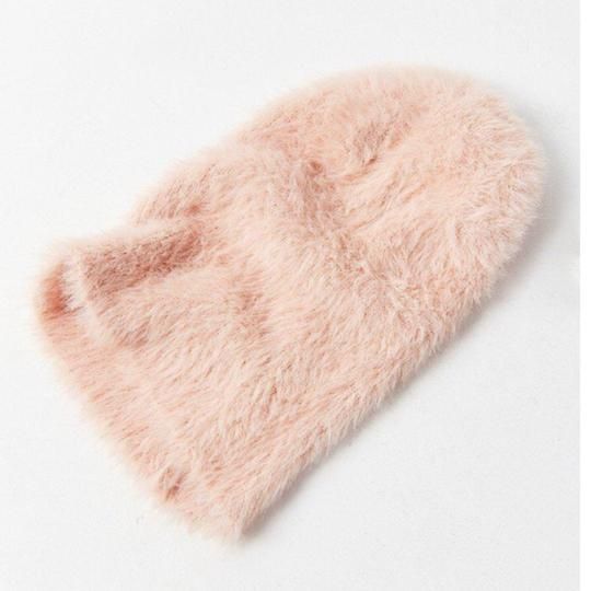 Urban Outfitters Urban Outfitters Soft Blush Pink Plush Winter Hat Image 1