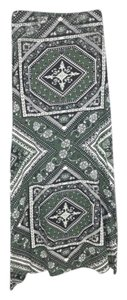 Billabong Tribal Wrapped Maxi Skirt Green White
