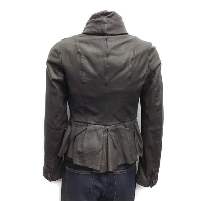 AllSaints Brown Leather Jacket Image 1