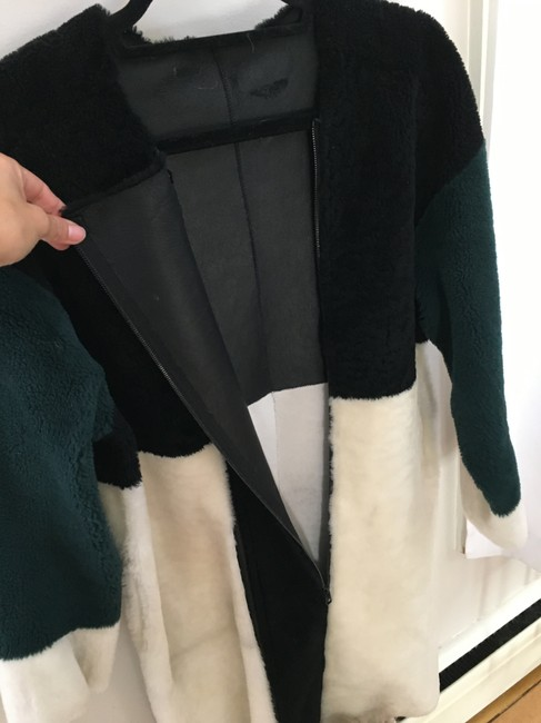 Opening Ceremony Shearling Color-blocking Fur Coat Image 2