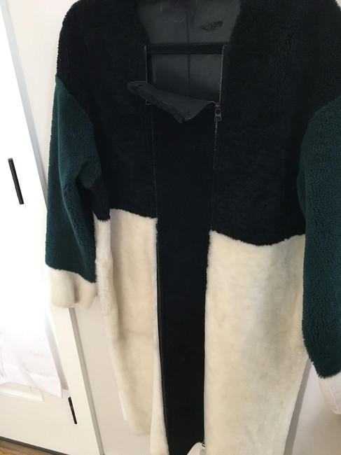 Opening Ceremony Shearling Color-blocking Fur Coat Image 3
