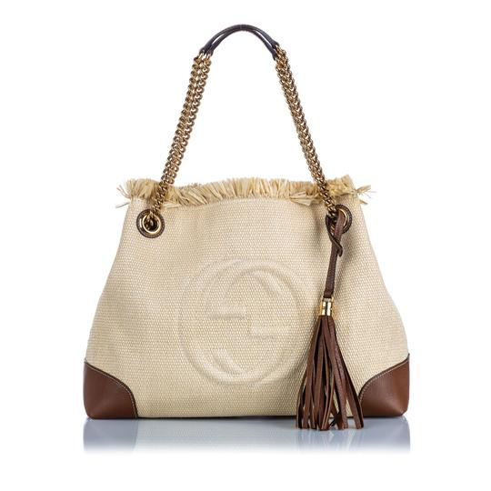 Preload https://img-static.tradesy.com/item/26375432/gucci-soho-ivory-with-brown-light-canvas-fabric-italy-white-leather-shoulder-bag-0-0-540-540.jpg