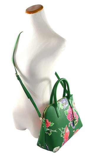 Kate Spade Dome Satchel Floral Leather Speedy Cross Body Bag Image 1