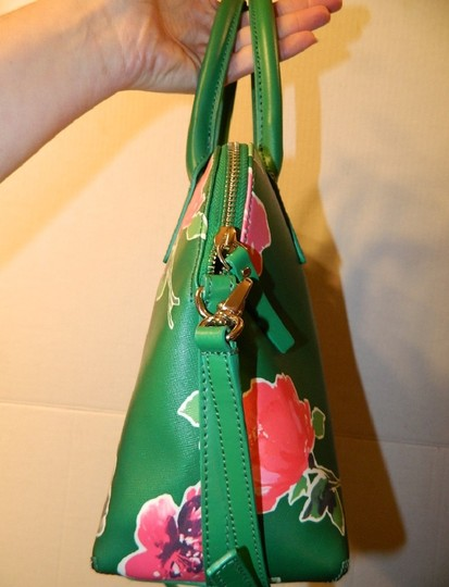 Kate Spade Dome Satchel Floral Leather Speedy Cross Body Bag Image 10