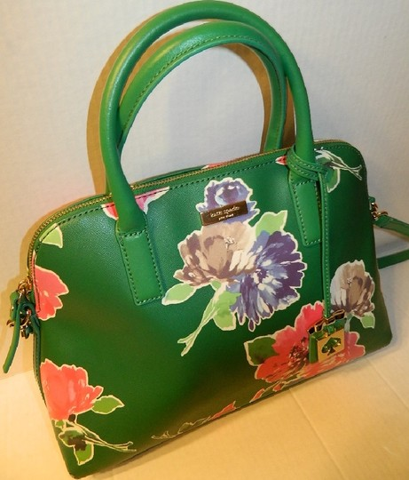 Kate Spade Dome Satchel Floral Leather Speedy Cross Body Bag Image 11