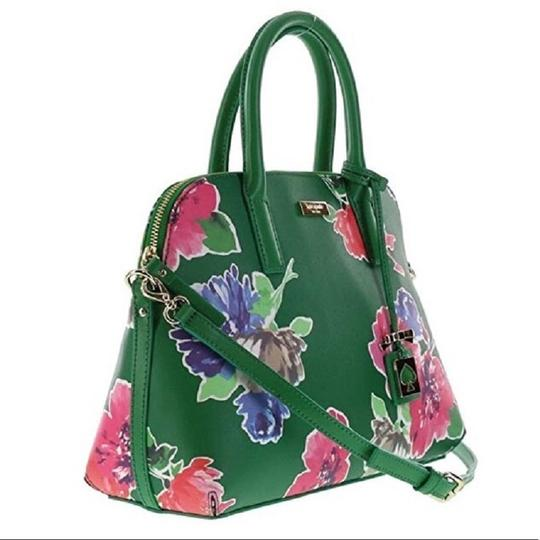 Kate Spade Dome Satchel Floral Leather Speedy Cross Body Bag Image 2