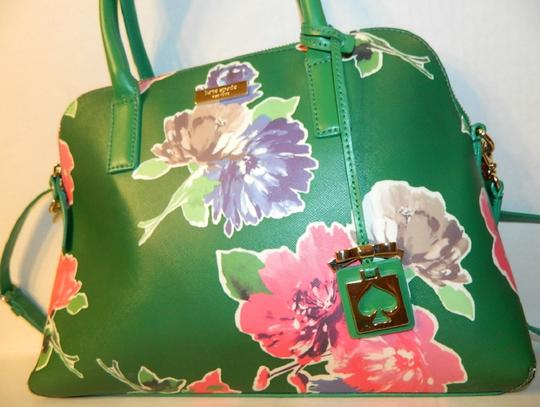 Kate Spade Dome Satchel Floral Leather Speedy Cross Body Bag Image 4