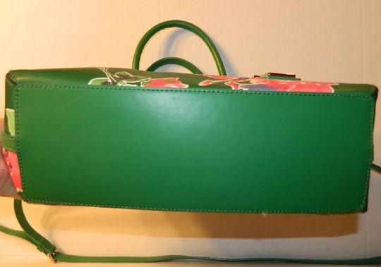 Kate Spade Dome Satchel Floral Leather Speedy Cross Body Bag Image 5
