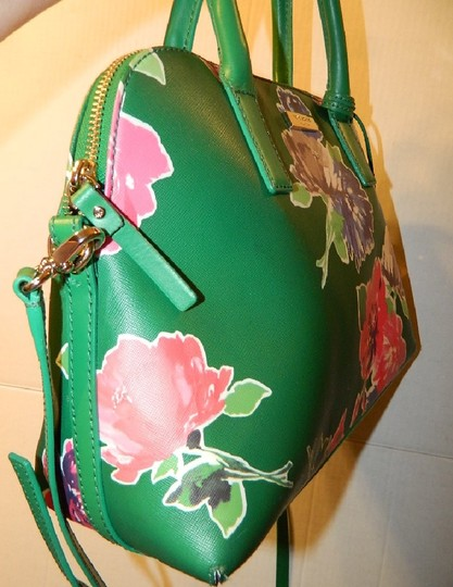 Kate Spade Dome Satchel Floral Leather Speedy Cross Body Bag Image 6