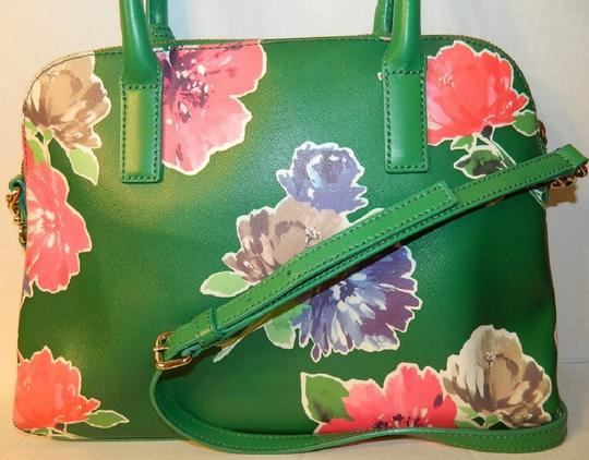 Kate Spade Dome Satchel Floral Leather Speedy Cross Body Bag Image 7