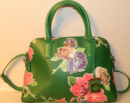 Kate Spade Dome Satchel Floral Leather Speedy Cross Body Bag Image 8