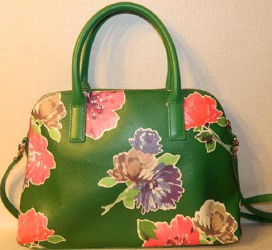 Kate Spade Dome Satchel Floral Leather Speedy Cross Body Bag Image 9