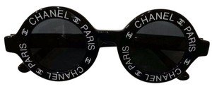 Chanel CHANEL Authentic Vintage 1993 Runway Black Round Sunglasses
