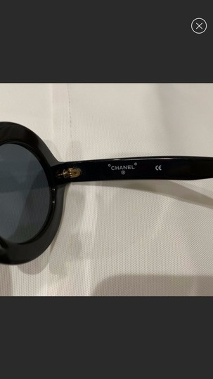 Chanel CHANEL Authentic Vintage 1993 Runway Black Round Sunglasses Image 5