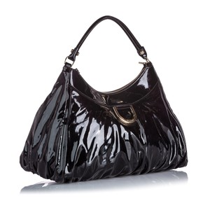 Gucci 9jgush002 Vintage Patent Leather Shoulder Bag