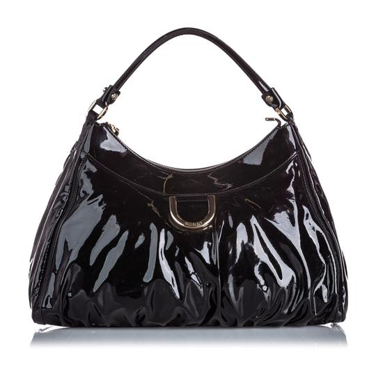 Gucci 9jgush002 Vintage Patent Leather Shoulder Bag Image 1
