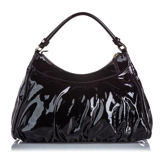 Gucci 9jgush002 Vintage Patent Leather Shoulder Bag Image 7