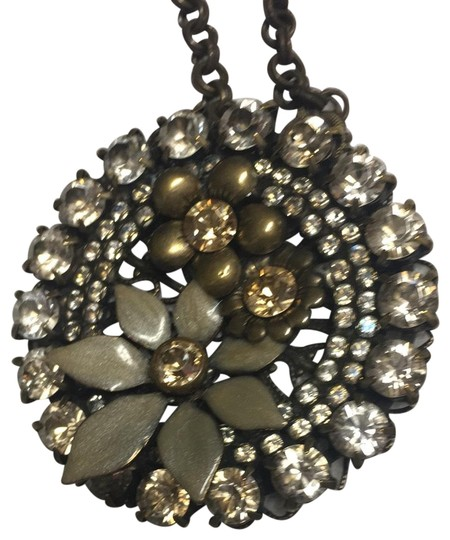 Preload https://img-static.tradesy.com/item/26375495/copper-floral-round-ornament-necklace-0-3-540-540.jpg
