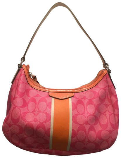 Preload https://img-static.tradesy.com/item/26375496/coach-signature-handbag-pink-canvas-hobo-bag-0-2-540-540.jpg