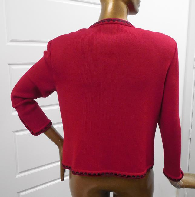 St. John Knit Full Zip Red Jacket Image 1