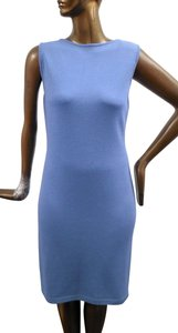 St. John short dress Blue Sleeveless Santana Knit Straight on Tradesy