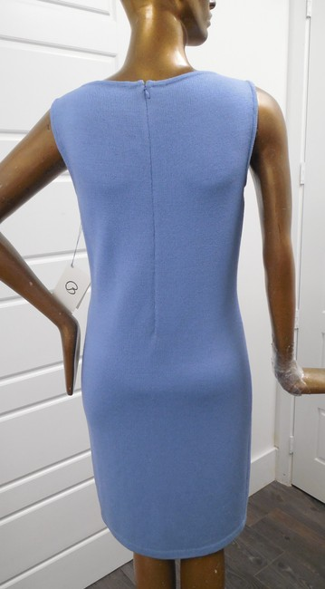 St. John short dress Blue Sleeveless Santana Knit Straight on Tradesy Image 1