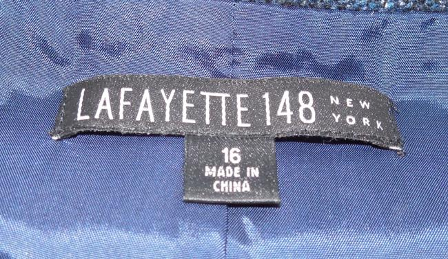 Lafayette 148 New York Tweed Fantasy Blazer Blue Jacket Image 3