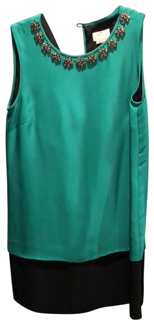 Item - Green and Black Mid-length Cocktail Dress Size 4 (S)
