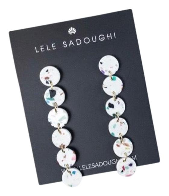 Item - White with Colors Circle Garland Earrings