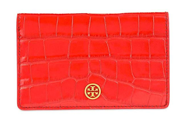 Item - Red with Tag Parker Kir Royale Embossed Medium Slim Wallet