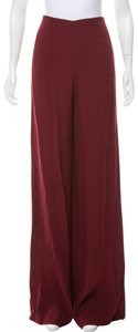 Adam Lippes Wide Leg Pants Burgundy