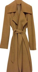 Max Mara Angora Rabbit Virgin Wool Silk Elegant Sleeves Coat