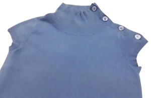 Evelyn Grace Cashmere Short Sleeves Turtleneck Buttoned Collar Made In China Sweater