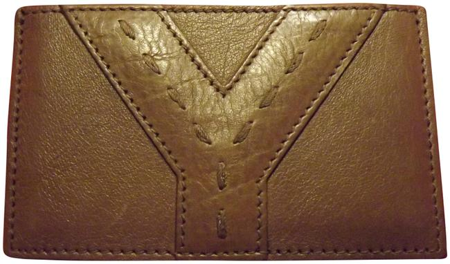Item - Brown Yves New Leather Card Case Holder Wallet