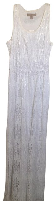 Item - White Sequence Long Casual Maxi Dress Size 2 (XS)