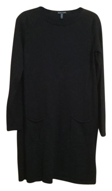 Item - Black Merino Pocket Dress Tunic Size 6 (S)