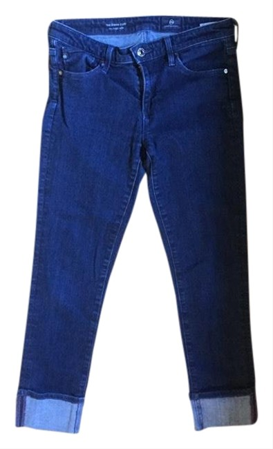 Item - Dark Blue Rinse The Stevie Cuff Skinny Jeans Size 4 (S, 27)