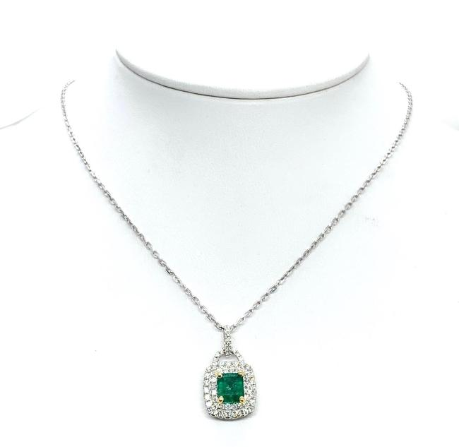 Item - Green Diamond Emerald 18k Gold 1.95t Cw Italy Certified 920739 Necklace