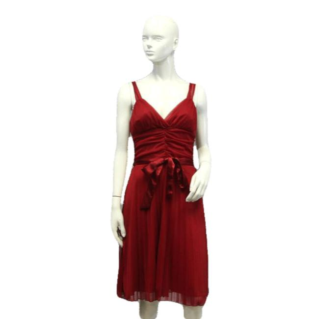 Item - Red L Party Mid-length Cocktail Dress Size 12 (L)