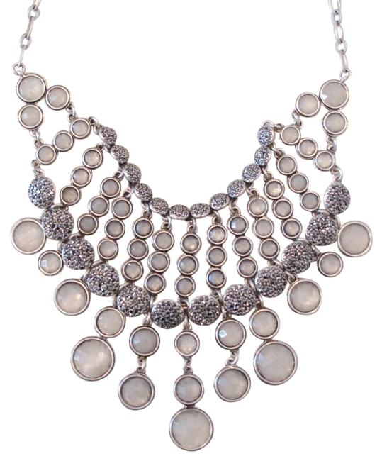 Item - Silver 70% Off Silver-tone Crystal Statement Necklace